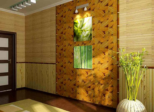 Бамбуковые циновки в интерьере