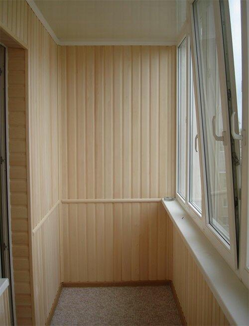 Эстетически красивый внешний вид балкона после отделки