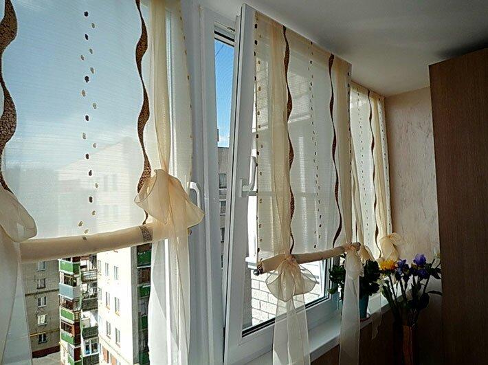 выбираем занавески для балкона