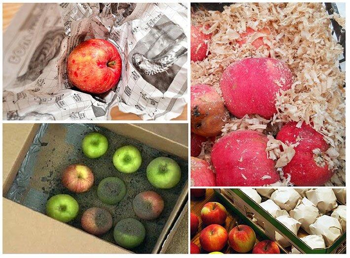 Варианты упаковки яблок