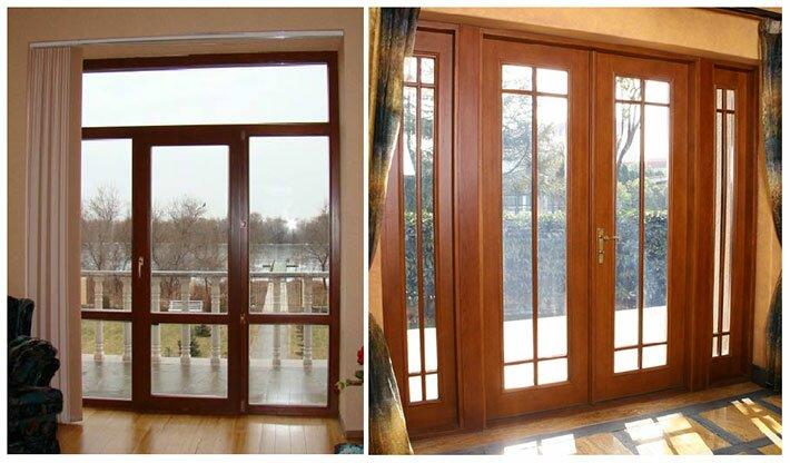 Дверные рамы из натурального дерева