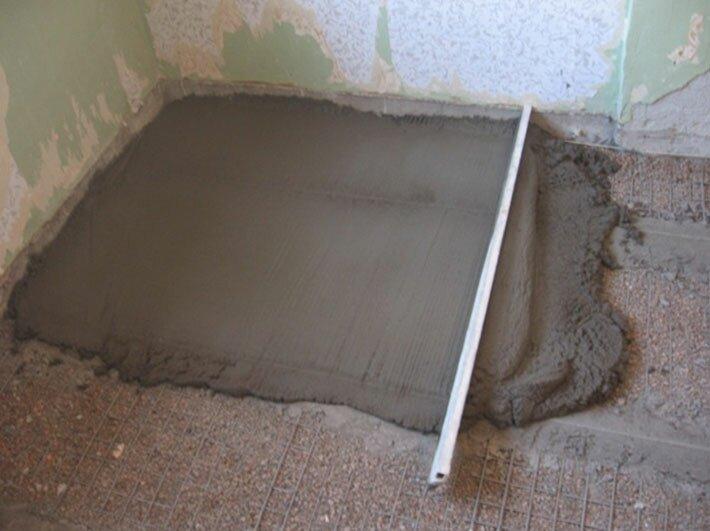 Цементно-бетонная стяжка пола