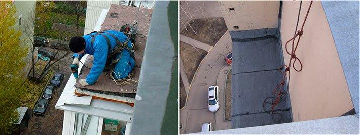 Ремонт и гидроизоляция крыши балкона